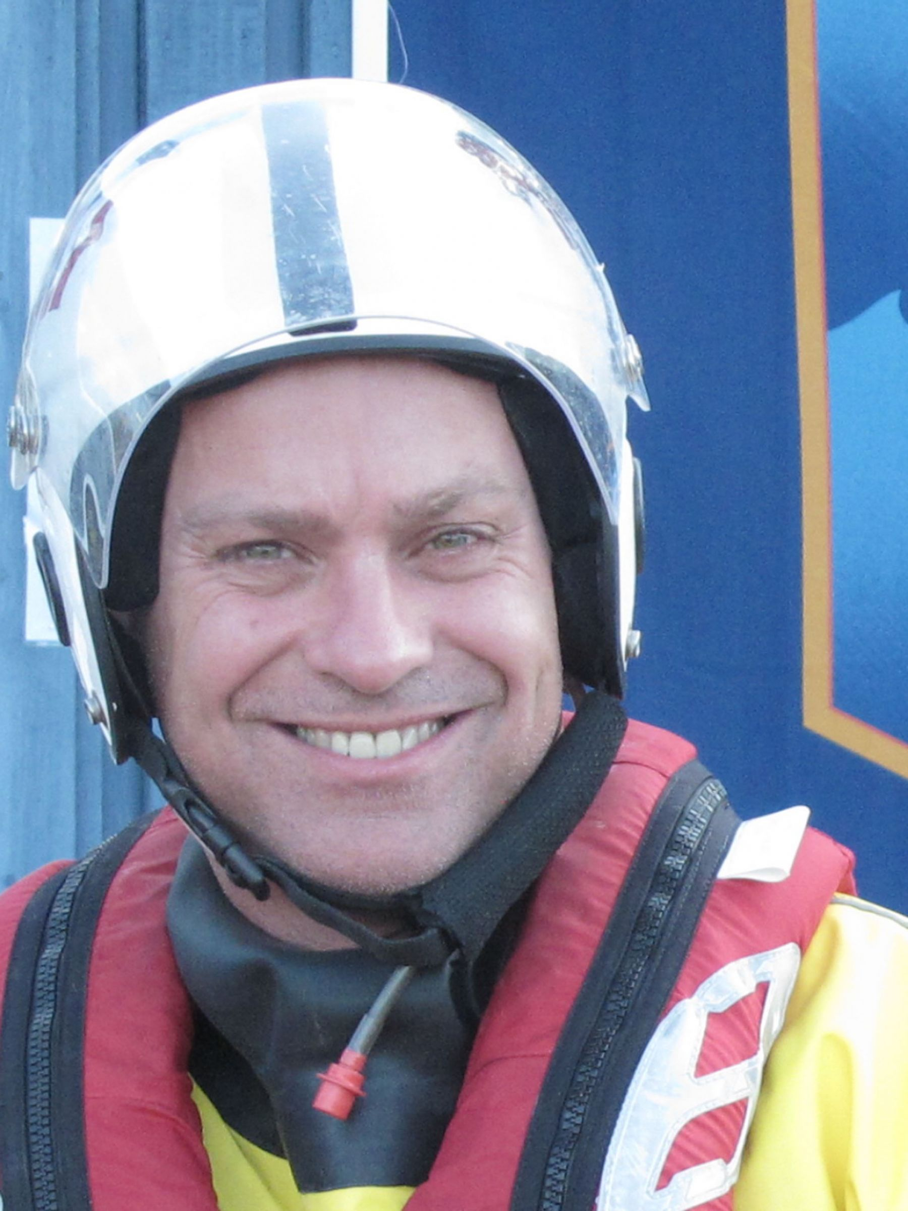 Kevin John.Operations team. RNLI Dart